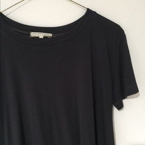 Navy blue long baby doll top